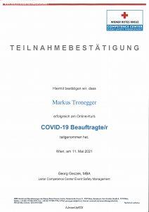 Rotes Kreuz Covid-19 Beauftragter 2021