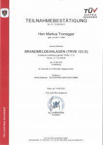 TÜV-Brandmeldeanlagen 2021