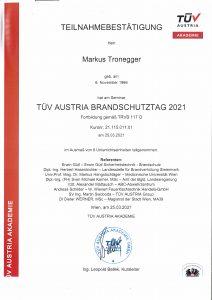 TÜV-Brandschutztag 2021